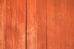 De oranje houten achtergrond van de muurtextuur Royalty-vrije Stock Afbeelding