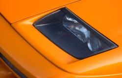 De oranje Italiaanse super auto van de koplamp Royalty-vrije Stock Foto