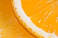 De oranje macro van de close-up als achtergronden Stock Fotografie
