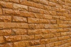 De oranje muur van de leisteen voor patroon en achtergrond Royalty-vrije Stock Fotografie