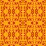 De oranje naadloze achtergrond van het vormenpatroon Royalty-vrije Stock Foto's
