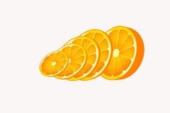 De oranje objecten plak van het cirkelvoedsel Stock Foto's