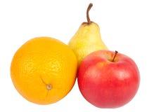 De oranje peer van de appel Royalty-vrije Stock Foto's