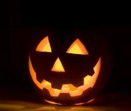 De oranje pompoen van Halloween Stock Afbeelding