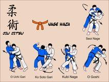 De oranje riem van Jitsu van Jiu vector illustratie