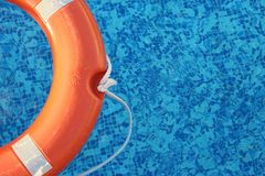 De oranje Ring van het Reddingsleven royalty-vrije stock afbeelding