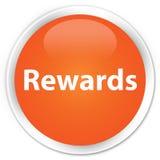 De oranje ronde knoop van de beloningenpremie Royalty-vrije Stock Foto