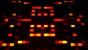 De oranje sc.i-FI Kunstmatige intelligentieai Achtergrond van Vierkantenloopable stock illustratie