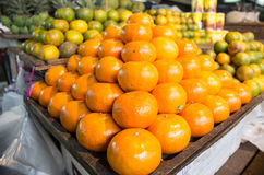De oranje stapel Stock Afbeelding