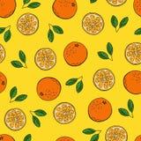 De oranje stijl van de tekeningskrabbels van de beeldverhaalhand vector illustratie