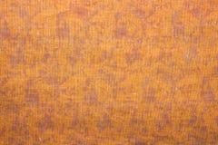De oranje stof van het textuurweefsel Royalty-vrije Stock Fotografie