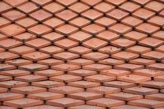 De oranje textuur van de daktegel Stock Afbeelding