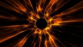 De oranje Tunnel Intro Logo Loop Background van de Zwart Gatenenergie stock illustratie