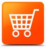 De oranje vierkante knoop van het elektronische handelpictogram stock illustratie