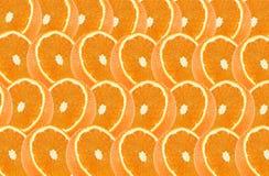 De oranje vruchten snijden abstract naadloos patroon Royalty-vrije Stock Afbeeldingen