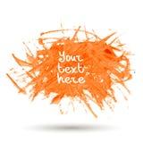 De oranje waterverf ploetert vectorachtergrond Royalty-vrije Stock Afbeeldingen