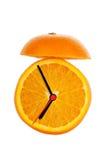 De oranje Wekker van het Fruit Stock Afbeelding