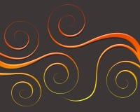 De oranje Wervelingen van de Gradiënt Stock Afbeeldingen