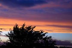 De oranje Zonsondergang van de Hemel Royalty-vrije Stock Foto's