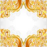 De oranjegele achtergrond van het bannerpatroon Stock Foto's
