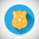De orde van de de beschermingswet van het politieman bage pictogram Stock Afbeeldingen