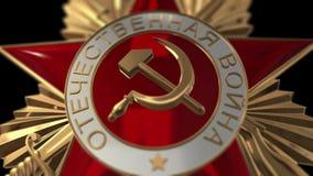De orde van de Patriottische oorlog stock footage