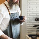 De Ordeconcept van Baristaprepare coffee working royalty-vrije stock fotografie