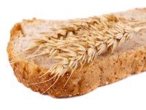 De oren van het brood en van de tarwe Royalty-vrije Stock Foto's