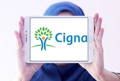 De organisatieembleem van de Cignagezondheid Stock Afbeeldingen