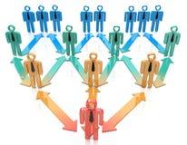 De organisatiehiërarchie van de teamleider stock illustratie