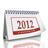 De organisator van de kalenderjaar 2012 Desktop Stock Foto