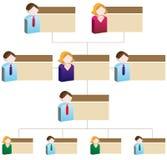De Organisatorische Grafiek van de diversiteit Royalty-vrije Stock Afbeeldingen