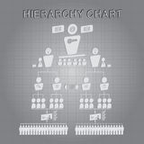 De organisatorische Vector van de Hiërarchiegrafiek Royalty-vrije Stock Foto's