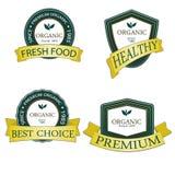 De organische en Echte etiketten van de productpremie Velen verschillende stijl met ruimte voor uw tekst Royalty-vrije Stock Foto's