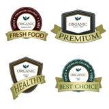 De organische en Echte etiketten van de productpremie Velen verschillende stijl met ruimte voor uw tekst Stock Afbeeldingen