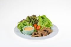De organische Groente bevat frilliceijsberg, butterhead, tomaat, Royalty-vrije Stock Foto