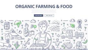 De organische Landbouw & Voedsel Concept royalty-vrije illustratie