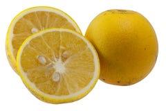 De organische sinaasappel isoleerde wit royalty-vrije stock foto's
