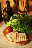 De organische veganist treft op keuken voorbereidingen royalty-vrije stock foto's
