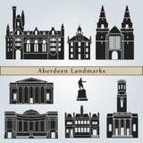 De oriëntatiepunten en de monumenten van Aberdeen Royalty-vrije Stock Afbeeldingen