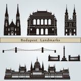 De oriëntatiepunten en de monumenten van Boedapest Stock Foto