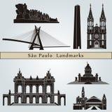 De oriëntatiepunten en de monumenten van Sao Paulo Stock Afbeeldingen