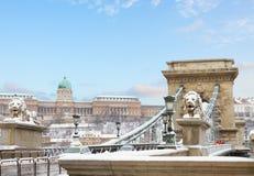 De oriëntatiepunten van Boedapest, Hongarije Stock Foto's