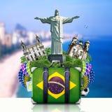 De oriëntatiepunten van Brazilië, Brazilië Royalty-vrije Stock Fotografie