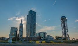 De Oriëntatiepunten van de Batumizonsondergang Stock Foto