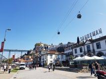 De oriëntatiepunten van Evropeportugal porto stock afbeeldingen
