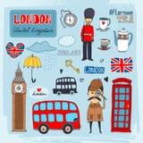 De oriëntatiepunten van Londen Stock Afbeeldingen