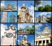 De oriëntatiepunten van Montreal, Canada Stock Afbeelding