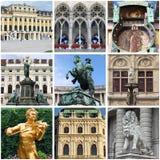 De oriëntatiepuntencollage van Wenen stock foto