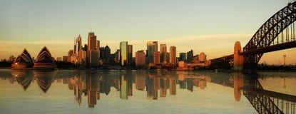 De oriëntatiepuntenpanorama van Sydney stock foto's